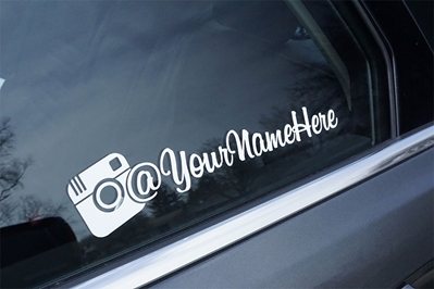 Custom Instagram Decal