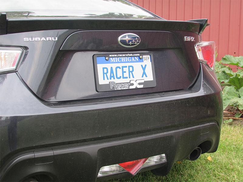 Racer X License Plate Frame | Racer X Fabrication
